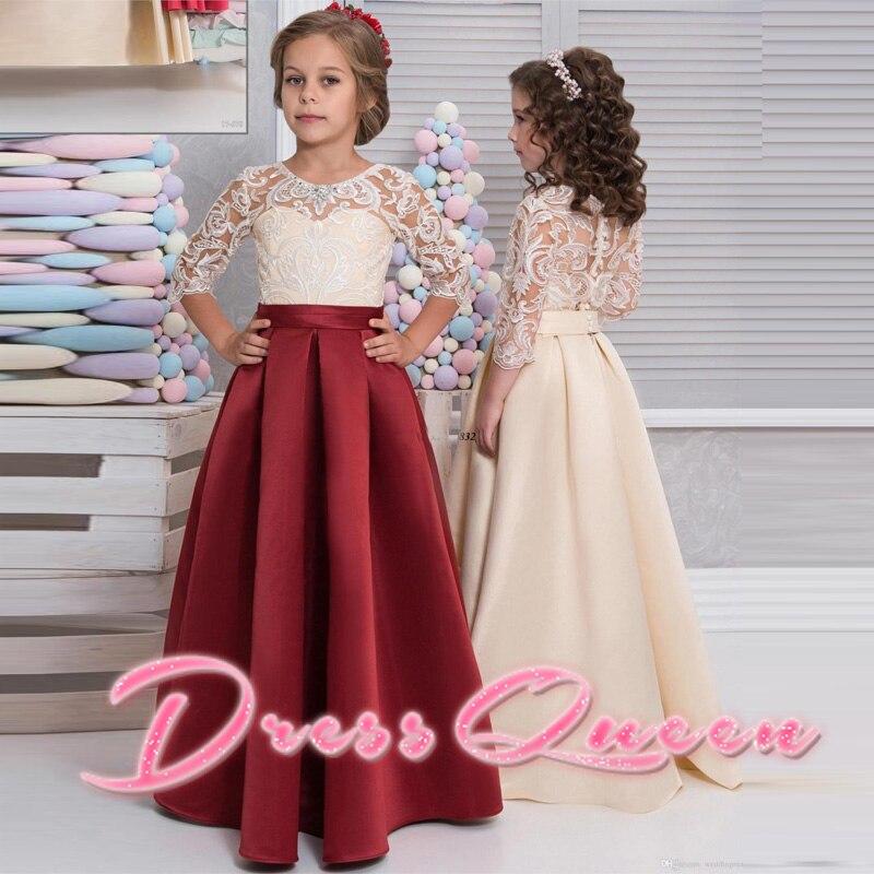 Aliexpress.com : Buy 2017 Flower Girl Dresses for Weddings Half ...