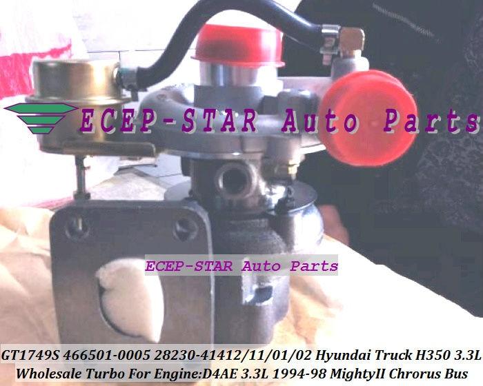 Free Ship GT1749S 466501 466501-5005S 28230-41411 28230-41412 Turbo Turbocharger For HYUNDAI Truck H350 Mighty Chrorus D4AE 3.3L