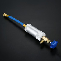 A/C Oil Injector Adapter 1/2 Male Female R134A 2 OZ Hand Turn Filler Injection Tool Oil Dye Injector