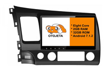 otojeta big screen hd car DVD player radio headunit tape recorder for 2006-2011 HONDA CIVIC LHD android 8.1 multimedia stereo
