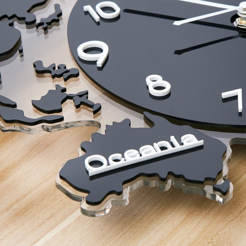 Kreatif Akrilik Menggantung Dinding Seni Jam Dunia Peta Bentuk Jarum  Digital Bisu Besar Jam Dinding untuk Rumah Ruang Tamu Kamar dekorasi di  Wall Clocks ... 46bd0fda1d