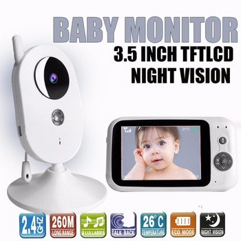 303A 3.5 Inch baby monitor with camera mini video baby monitor Night Vision Surveillance Security Camera Babysitter Temperature