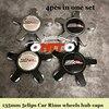 Best quality 135mm 5pins Modified 4pcs/lot Car Wheels hub Caps SSR Logo Badge For VW Rims Emblem label Car Covers Car styling