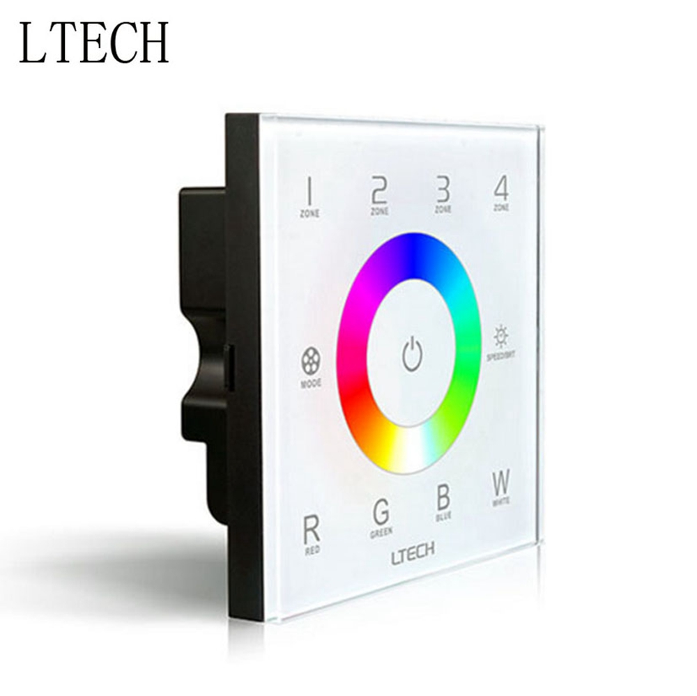 LTECH DX8 RGBW Touch Panel Led Controller 4 Zones Control RF 2.4G+DMX512 Wall Mounted For Rgbw Strip Led Panel LTECH DX8 RGBW Touch Panel Led Controller 4 Zones Control RF 2.4G+DMX512 Wall Mounted For Rgbw Strip Led Panel