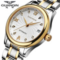 Relógio de Diamantes de luxo para as mulheres designer de marca Original GUANQIN safira à prova d' água de aço Completa relógios de Quartzo vestido de relógios de Senhora