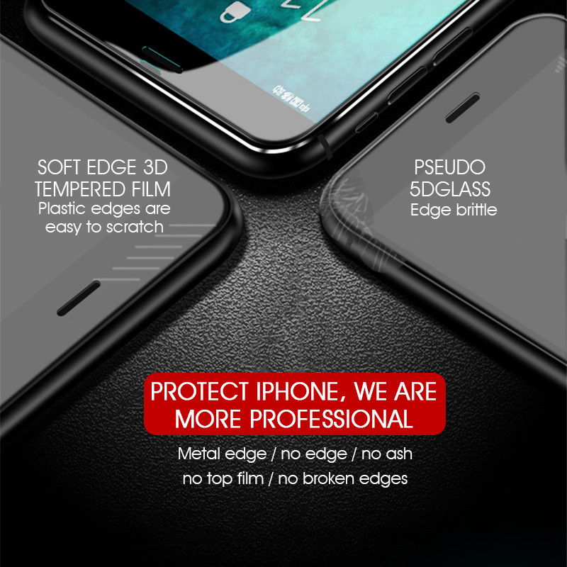Image 4 - 7D Aluminum Alloy Tempered Glass For iPhone 6 6S 7 Plus Full Screen Protector Protective On The For iPhone X 8 5 SE 5S Glass-in Phone Screen Protectors from Cellphones & Telecommunications