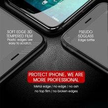 7D de aleación de aluminio de vidrio templado para el iPhone 6 6 S 7 Plus Protector de pantalla completa protección de la para iPhone X 8 5 SE 5S de vidrio