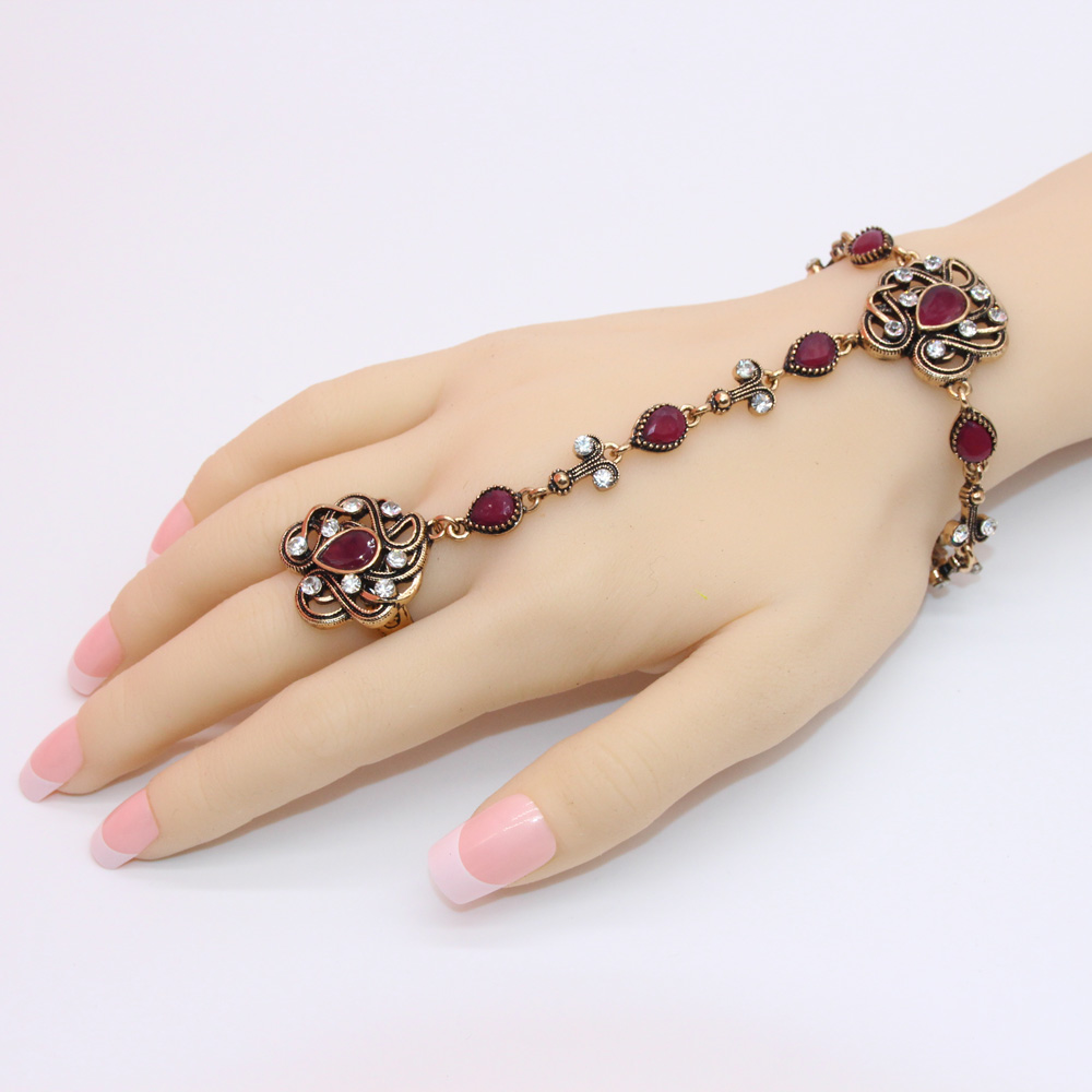 New Morocco Bracelet  For Women Antique Exquisite Crystal Back Of The - Fashion Jewelry - Photo 6