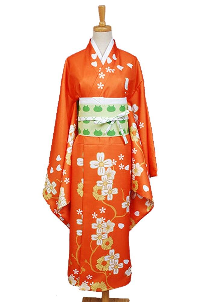 Super Danganronpa 2 Hiyoko Saionji Kimono Costume Full Sets Cheongsam Dress Adult Custom Made