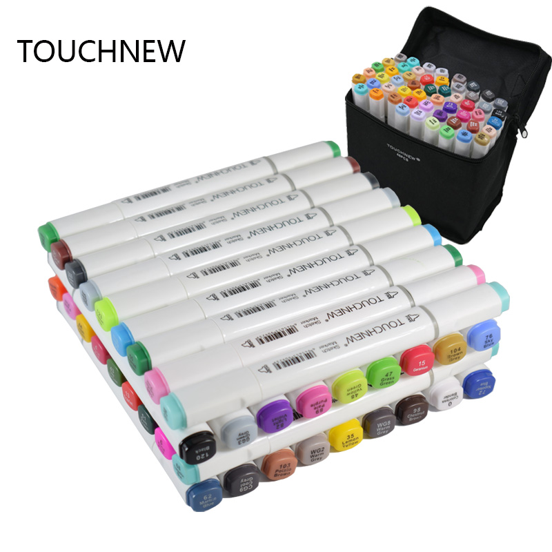Touchnew 60 Colors  Drawing Marker Design Artist Dual Head Sketch Markers Set  Markers Pen touchnew 7th 30 40 60 80 colors artist dual head art marker set sketch marker pen for designers drawing manga art supplie