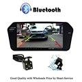 """Espelho Retrovisor do carro Monitor de 7 """"Monitor lcd tft De Carro Com Câmera de Visão Traseira Reversa Suporte a Bluetooth Hands-free Monitor de USB SD"""