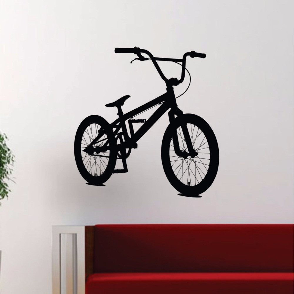 BMX Biker Wall Stickers For Kids Rooms Boys Girls Living Room Home Decal Decor Sports bicycle Mural Poster Vinyl Wall Art