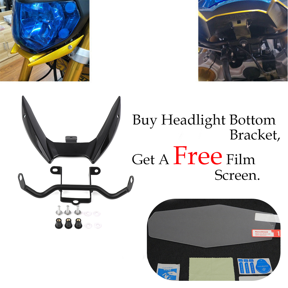 KEMiMOTO For Yamaha MT09 MT 09 MT-09 FZ-09 2014 2015 2016 Headlight Bottom Bracket Mount Holder for yamaha mt 03 2015 2016 mt 25 2015 2016 mobile phone navigation bracket page 2