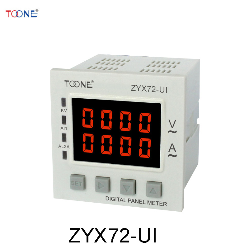 Single - phase AC digital display of intelligent current and voltage combination table ZYX72 - UI / SX72 * 72AV 660v ui 10a ith 8 terminals rotary cam universal changeover combination switch