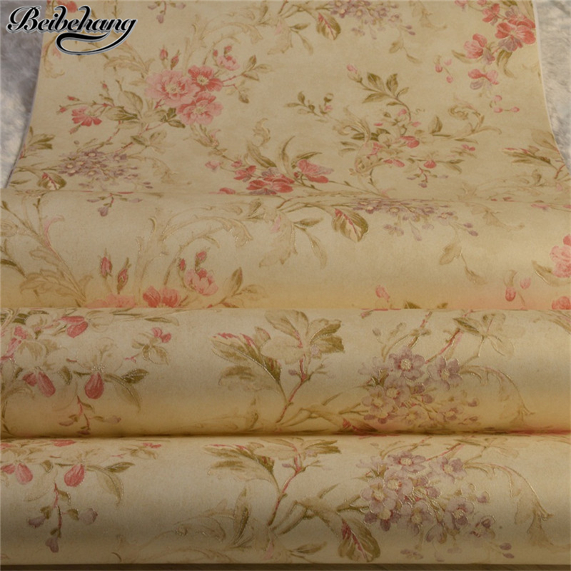 beibehang Nonwoven wallpaper phnom penh rural American country study bedroom TV sofa sitting room dining-room setting wall paper