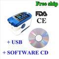 CMS 50D+ Blue Finger Pulse Oximeter with USB and Sofware blood oxygen USA FDA CEsaturometre pulsoximeter oximetro de dedo blood