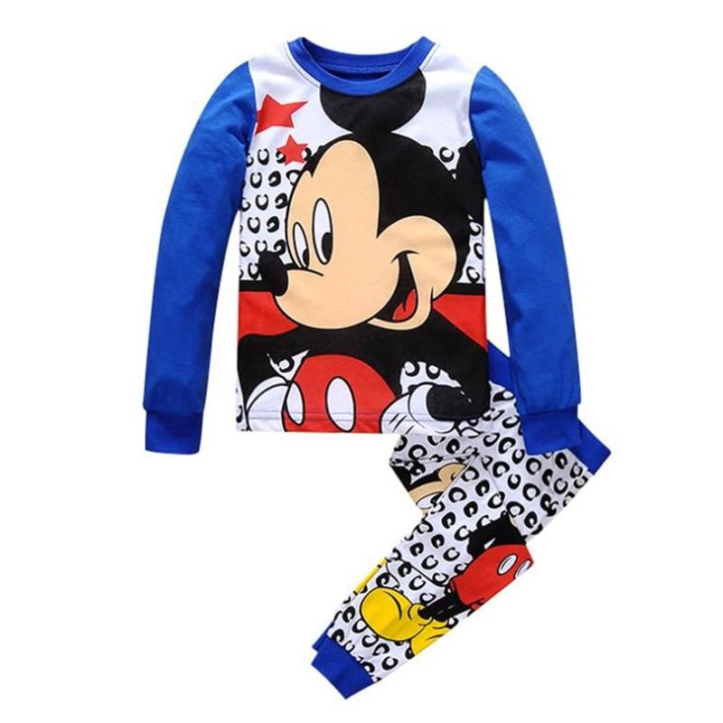 Cartoon Baby Boys Girls Pajamas clothes Spring Autumn Children cartoon Character cute cotton Pajamas Kid Sleepwear clothing set
