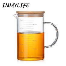 Heat-resistant Borosilicate Glass Mug Coffee Offices Cup Tea Beer Mugs Measuring Cup Cold Water Glass Cup 240ML-1000ML