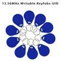 Сменные брелоки UID, маркеры MF NFC, 13,56 МГц, перезаписываемая rfid-метка, ключ управления доступом, используемая для копирования/клонирования кар...