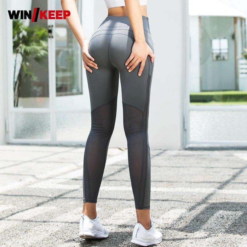 Top qualité Stretch Yoga Leggings femmes Fitness taille haute sans couture Jogging pantalons de survêtement formation Compression Push Up pantalon femme