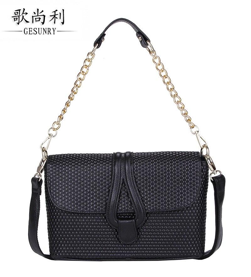 ФОТО Women's handbag messenger bag genuine leather 2016 first layer of cowhide fashion handbag bag shoulder bag Day Clutches bag