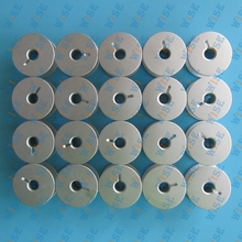 20 GAMMILL TIN LIZZIE PFAFF QUILTER LARGE ALUMINUM BOBBINS WITH HOLES 18034AS 20PCS