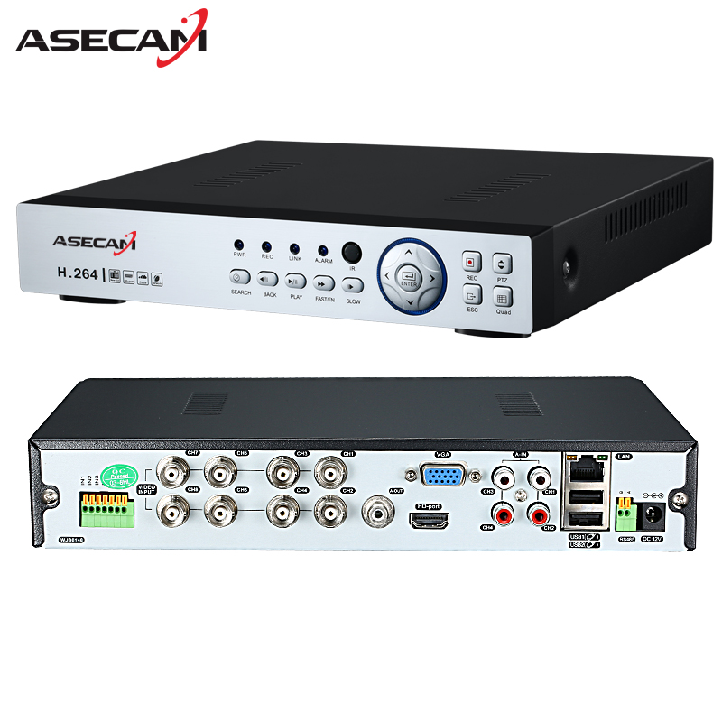 New 8CH 16CH AHD DVR 1080N 12fps CCTV Video Recorder Camera Network Onvif Channel IP NVR 1080P XMeye app Alarm P2P Remote
