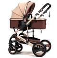 Alta paisagem carrinho de bebê pode sentar mentindo dobra two-way quatro-rodas choque carrinho de bebê