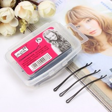 4 Kinds Simple Black Bobby Pins Metallic Hair Clips and Pins Transparent Plastic Box Package Headwear for Girls Women djeco djeco игрушечная посуда для сюжетно ролевой игры блинная галлы и титуана