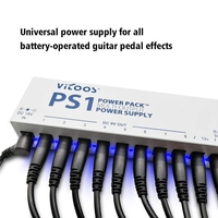 Guitar Pedal Power Supply Guitar Effect Pedal Power Supply Multi Channel Desktop Low Noise Isolated Power Supply 10 Output Set