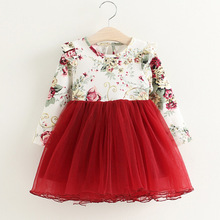 Lace Flower Princess Dress Spring Girl