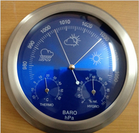 mechanical Aneroid Barometer Hygrometer Thermometer 230mm daimeter weather station home decoration gift