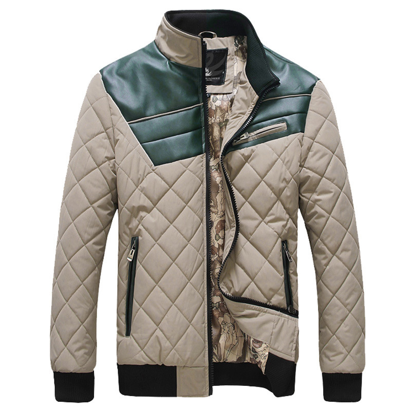 ФОТО Winter new pattern keep warm patchwork coat men parkas outwear thick jacket plus size M-3XL jacket coat for man 4 color