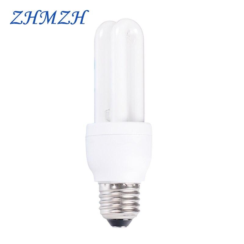 E27 Screw 8x 11W Low Energy 2700k Warm White CFL Spiral Light Bulb =52W