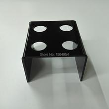 HMROVOOM  black 4 Holder Acrylic Ice Cream Cone/ Acrylic ice cream stand black