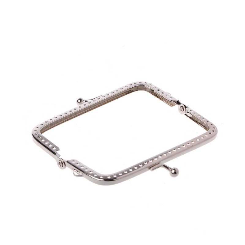 Thinkthendo 2017 1ピースメタル縫製穴ハンドバッグクラッチコイン財布バッグ8.8x7.5cm 8.5センチ