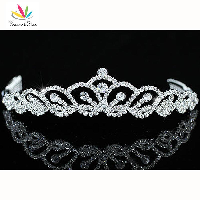 павлин звезда подружки невесты свадебная вечеринка качества стильный австрийского хрусталя тиара ct1407