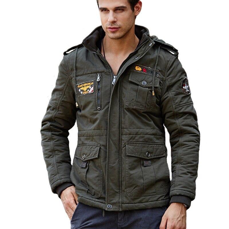 ФОТО Fleece Thermal Winter Jackets Men Sportswear Rib Sleeve Hooded Waist Adjustable Outdoor Camping Hiking Military Coats TH0309