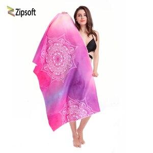 Image 1 - Zipsoft Large Size Microfiber Beach towel Mandala Violet Quick Drying Yoga Mat Sports Swimming Bath Blanket Christmas gift 2019
