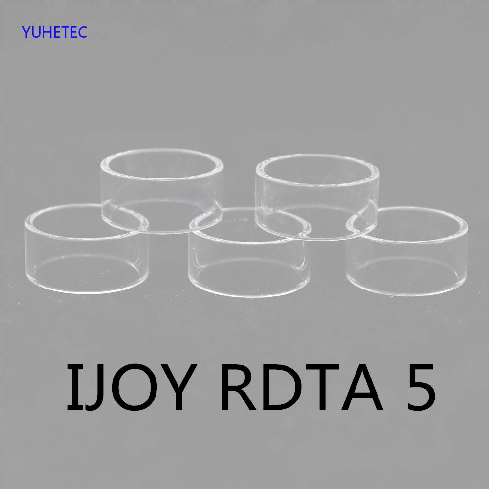 5pcs Original YUHETEC Replacement Glass TUBE For IJOY RDTA 5S / IJOY RDTA 5 Straight Glass Tube 5pcs/lot