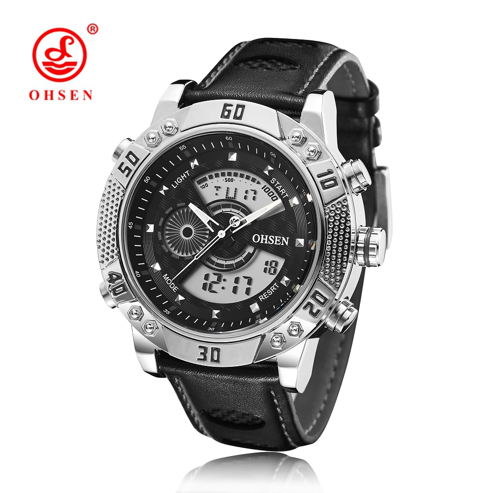 NEW Arrival OHSEN Top Brand Mens Quartz Digital Watch Men Man Male LED Alarm Date Clock Dress Business Watch relogio masculino 2017 new arrival broadlink s1c s1 smartone alarm