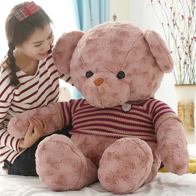 large teddy bear doll 110cm plush toy bear doll soft hug pillow , Christmas gift x098 поло merc merc me001emaum09