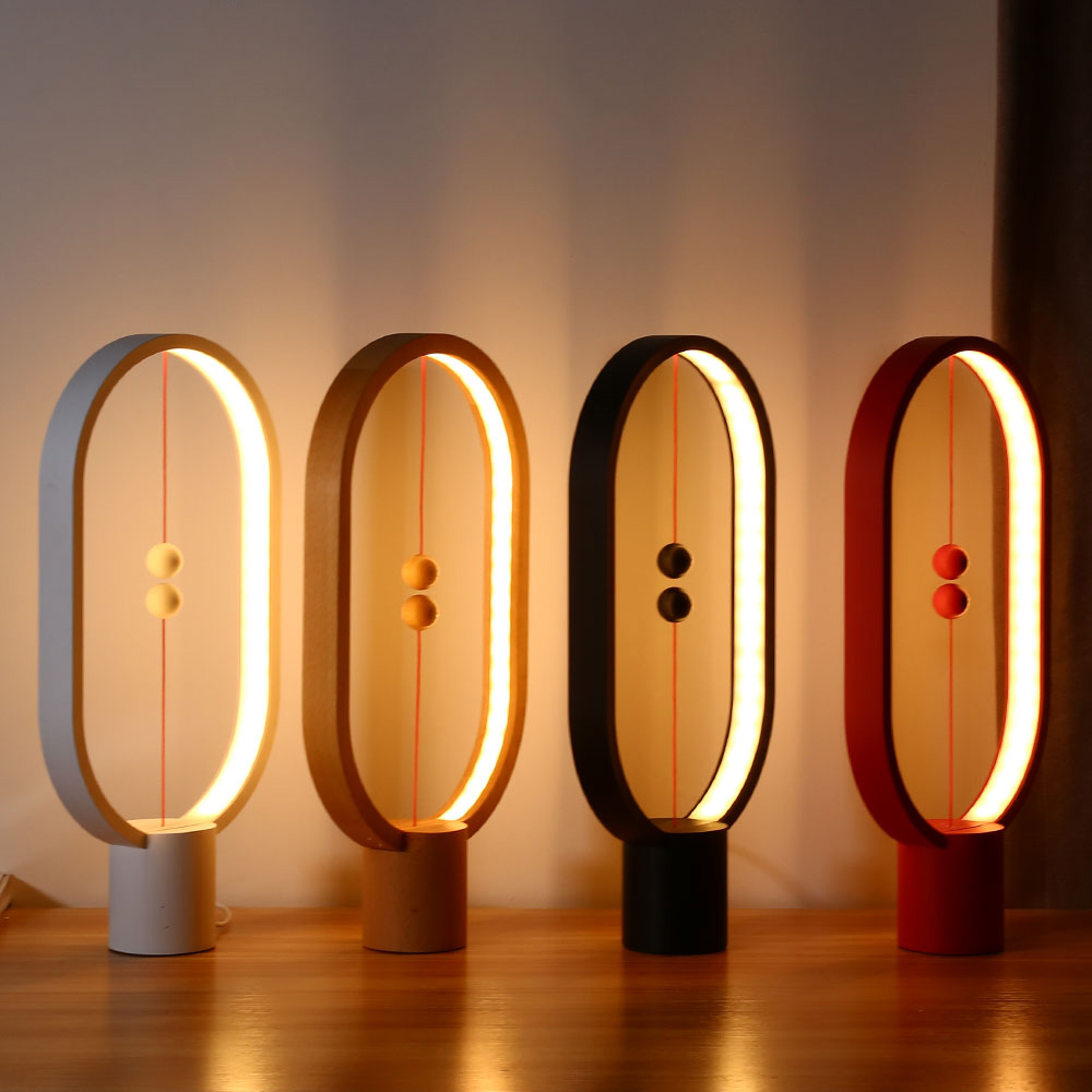 Smart Balance Magnetic Lamp LED Night Light USB Powered Home Decor Bedroom Office Table Night Lamp