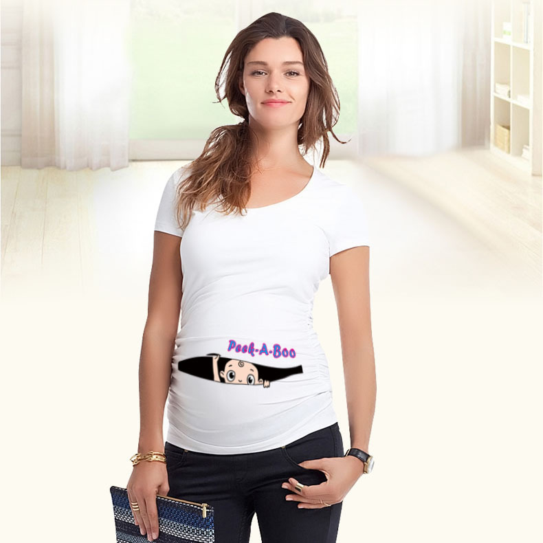 Pregnant clothes 2015 high quality cotton t shirt baby for T shirt printing for babies