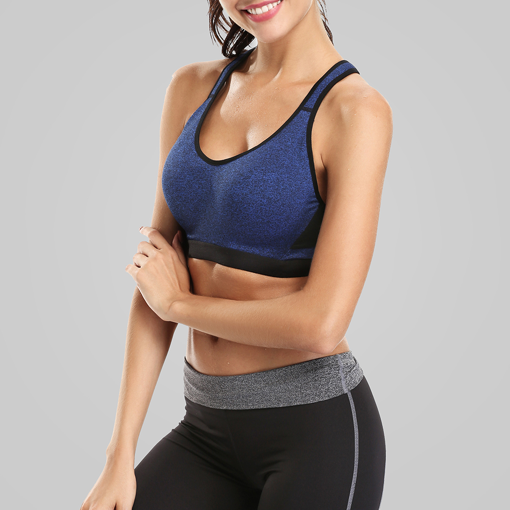 Charmleaks Women High Impact Sports Bra Solid Color Yoga Bra Gym Cross Backless Underwear Fitness Breathable Push Up Sport Top in Sports Bras from Sports Entertainment