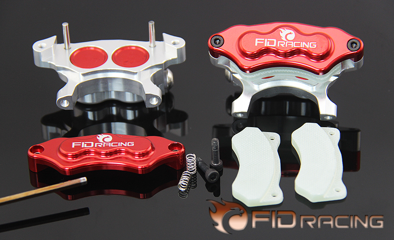 FID 4 BAJA Wheel hydraulic brake system-Rear caliper 2 set 1 set of high quality rc rubber wheel with brake axle for airplane viper brake system