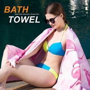 Image 3 - SANTO Quick Drying Beach Bath Towel Microfiber Magic Soft Lint Ecofriendly Cloth Camping Comfortable Hiking Swimming 4 Colors