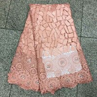 Best Selling Swiss Cord lace,African Lace Fabric Peach Color Nigerian French Fabric 2017 High Quality Stones Mesh Lace Fabric