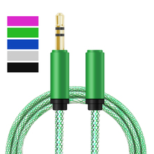 Universal 3.5 mm Jack Aux Audio Cable male to female Extension Audio Stereo 1M Cables cord for Samsung iPhone Mp3 Mp4