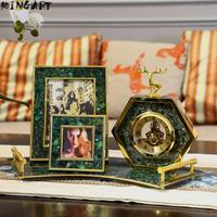 Retro Metal Photo Frame Set Home Creative Picture Frame For Home Desk Display Wedding Desk Picture Frame